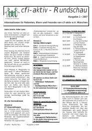 cfi-aktiv - Rundschau Ausgabe 2 • 2007 Informationen für ... - CF aktiv