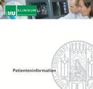 Klinikum der Universität München - des Klinikums - Ludwig ...