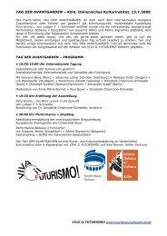 TAG DER AVANTGARDEN – Köln, Italienisches ... - Kulturserver NRW