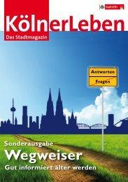 KölnerLeben - Wegweiser - Gut informiert älter werden - Stadt Köln