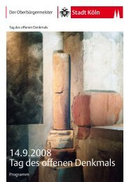 14.9.2008 Tag des offenen Denkmals - Koelnarchitektur.de