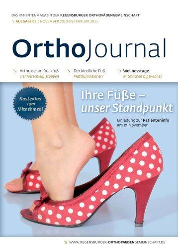 Ihre Füße - Regensburger OrthopädenGemeinschaft