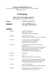 Fachtagung - Autismus Oberbayern