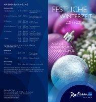 Weihnachten & Silvester - Radisson Blu