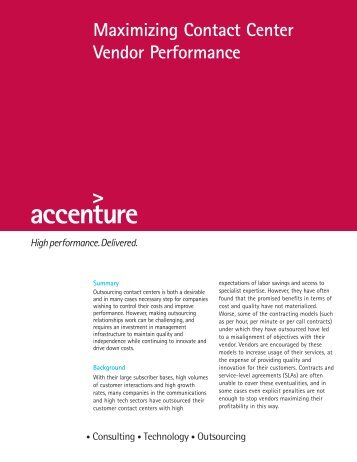 maximizing contact center performance 2