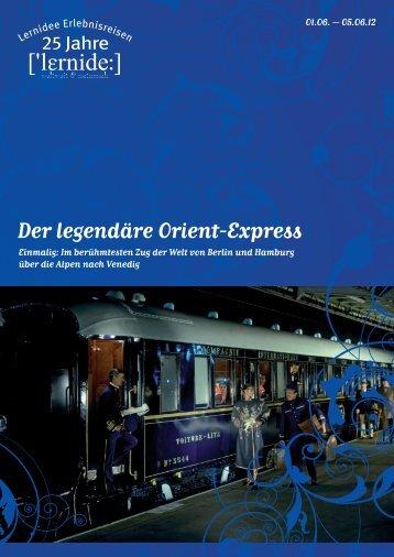 Der legendäre Orient-Express - Lernidee Erlebnisreisen