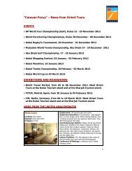 Winter 2012 - Orient Tours