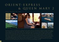 ORIENT-EXPRESS & QUEEN MARY 2 - The Captains Choice Tour
