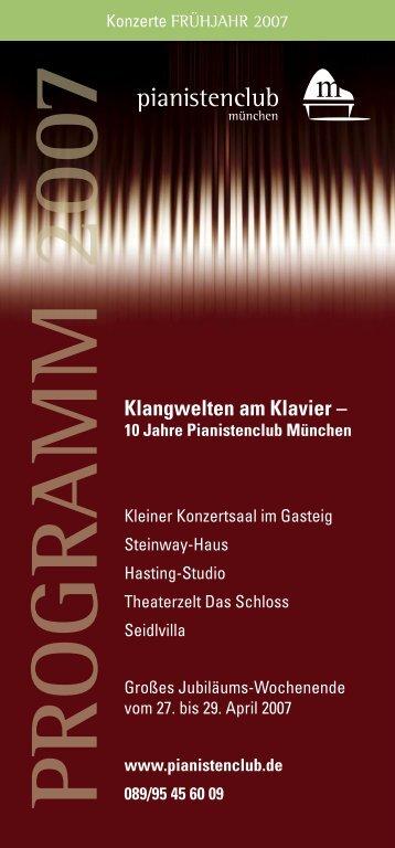 Klangwelten am Klavier - Pianistenclub eV