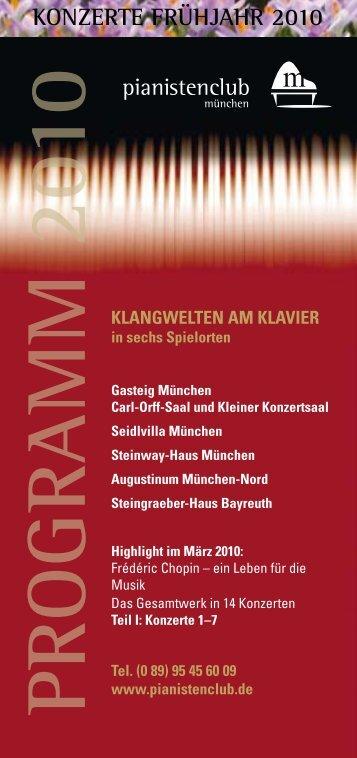 PROGRAMM 2010 - Pianistenclub eV