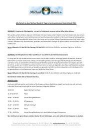 Download der ausführlichen Seminarbeschreibung ... - Michael Roads