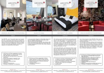 ARCOTEL Hotels Directory