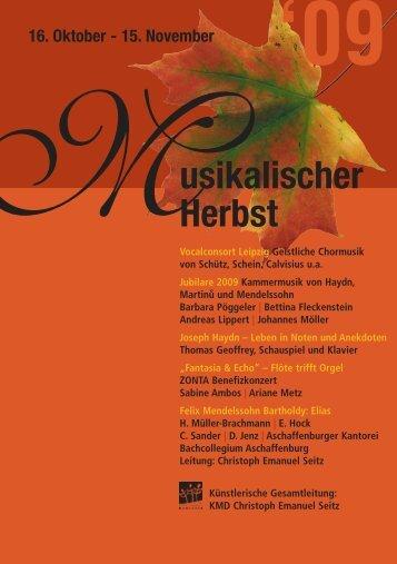 09 Herbst usikalischer 16. Oktober - 15. November MVocalconsort ...