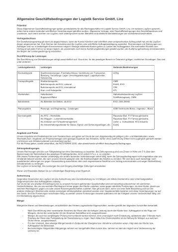 Allgemeine Geschäftsbedingungen [21 KByte/pdf] - Logistik Service ...