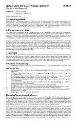 Testdurchführung - INOVA Diagnostics