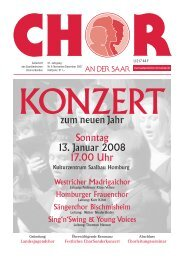 """Chor an der Saar"" 6/2007 - Saarländischer Chorverband"