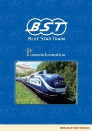 Presseinformation - im Blue-Star-Train