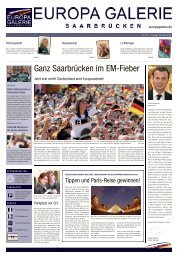 Ganz Saarbrücken im EM-Fieber - Saarbrücker Zeitung