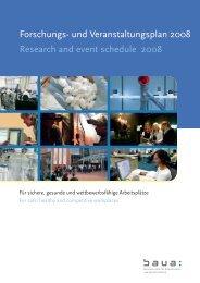 Forschungs- und Veranstaltungsplan 2008 - Bundesanstalt für ...