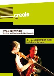 creole NRW 2008 4. - 7. September 2008