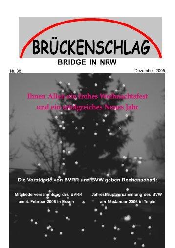 Bericht Ressort Verwaltung - Bridgeverband Rhein-Ruhr eV
