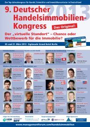 9. Deutscher Handelsimmobilien-Kongress 2013 - Management Forum ...