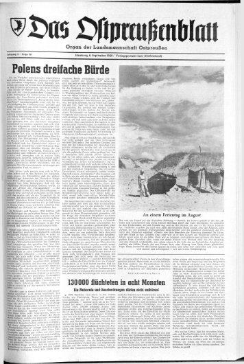 Folge 36 vom 06.09.1958 - Archiv Preussische Allgemeine Zeitung