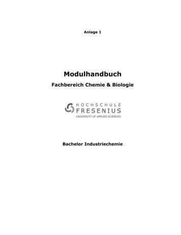 Modulhandbuch Fachbereich Chemie & Biologie - Hochschule ...