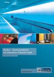 AluNox – Aluminiumbleche mit dekorativer Edelstahl-Optik