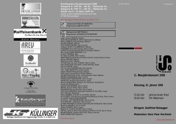 Neujahrskonzert 2008 Programm - ISO - Innviertler Symphonie ...
