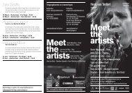 Meet the artists Meet the artists - Ribattuta