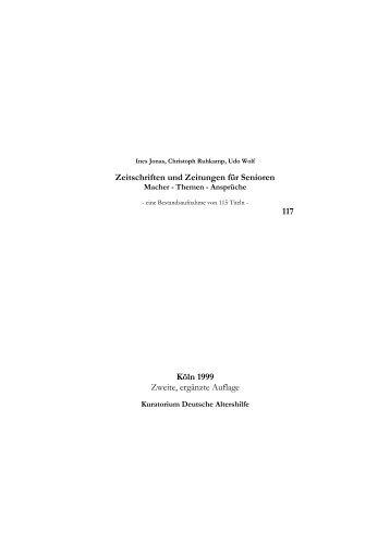 115 Seniorentitel - Kuratorium Deutsche Altershilfe