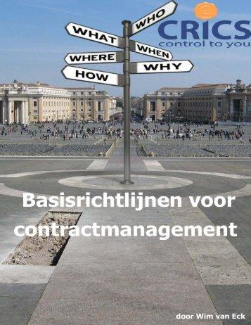 Doelstellingen - CRICS Contract Management Software