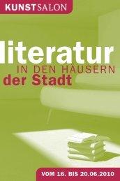 Programm Literatur in den Häusern der Stadt - KunstSalon