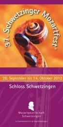 Quartett - Mozartgesellschaft Schwetzingen eV