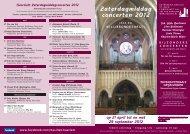 Overzicht Zaterdagmiddagconcerten 2012 - Bisdom Haarlem
