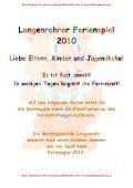 Spielepass 2010 neu - Marktgemeinde Langenrohr - Page 2