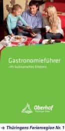 Gastronomieführer Ferienregion Oberhof | Ihr kulinarisches Erlebnis