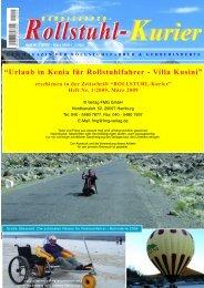 Urlaub in Kenia für Rollstuhlfahrer – Villa Kusini (PDF - Escales-Verlag