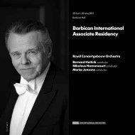 Download your concert programme here - Barbican
