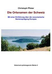 Christoph Pfister Die Ortsnamen der Schweiz - Dillum