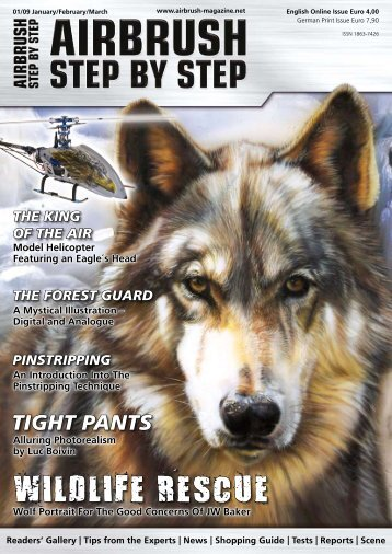 WILDLIFE RESCUE - Airbrush Step by Step Magazine, How To ...