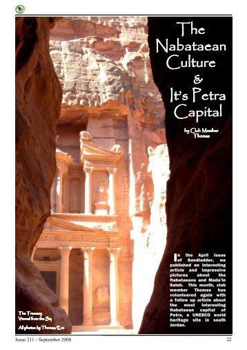 & It's Petra Capital The Nabataean Culture