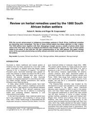 Review on herbal remedies used by the 1860 South African Indian ...