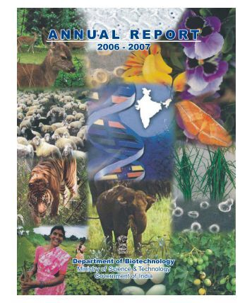 ANNUAL REPORT - Department of Biotechnology