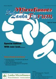 LMFPA newsletter - Microfinance in Sri Lanka