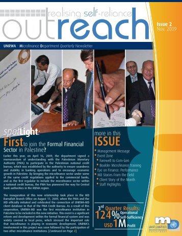 Outreach – November 2009 - Unrwa