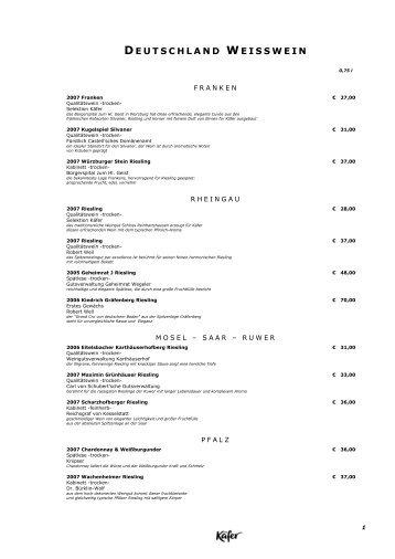 01122008 weinkarte Restaurant