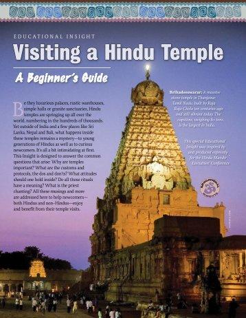 Visiting a Hindu Temple - Hinduism Today Magazine