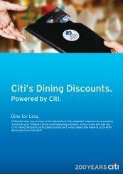 Citi's Dining Discounts.